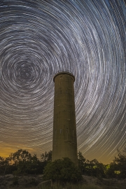 Star_Trails_At_The_Tower